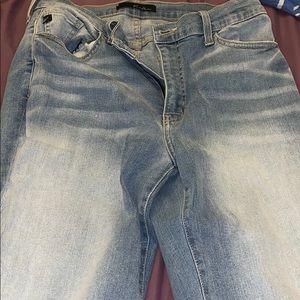 Pants - light blue skinny jeans